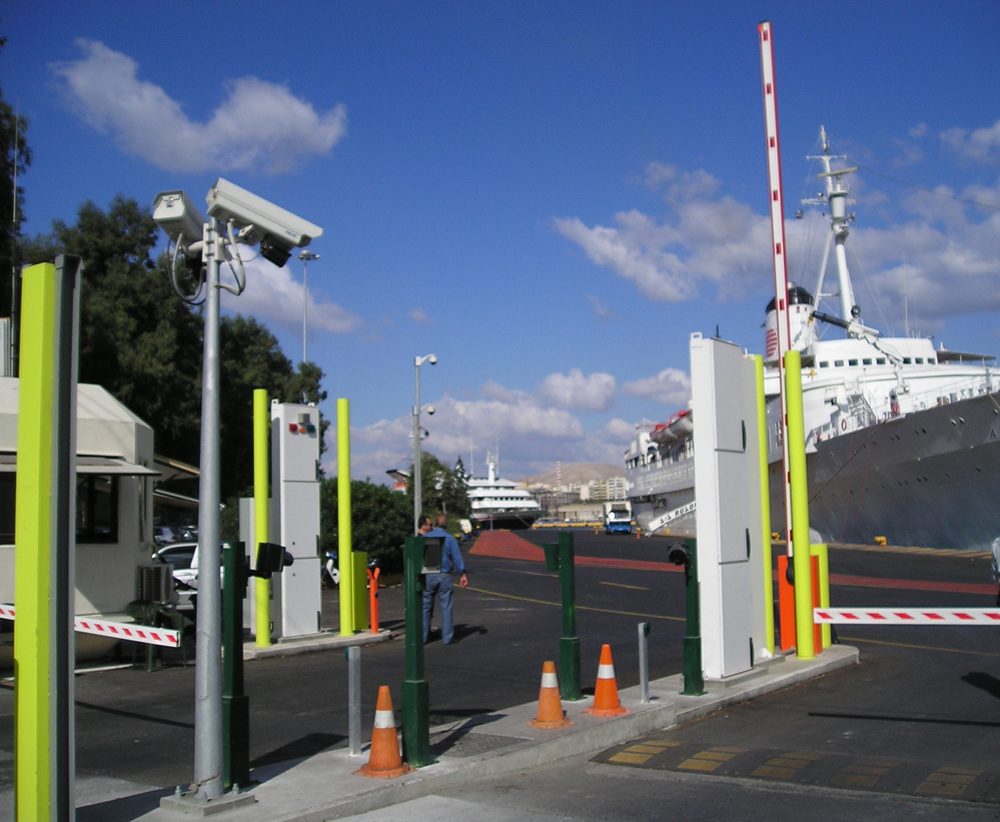 Fixed radiation detection system at Piraeus port